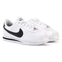 NIKE Boys White Nike Cortez Basic SL Junior Shoe White/Black