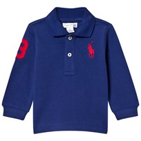 Ralph Lauren Royal American Blue Long Sleeve Polo with Big PP 005