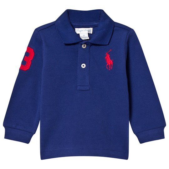 Ralph Lauren Mesh Long Sleeve Polo Royal Blue 005
