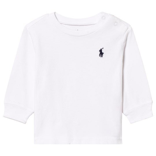 Ralph Lauren White Long Sleeve Tee with Small PP 011