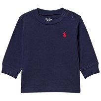 Ralph Lauren Navy Long Sleeve Tee with Small PP 012