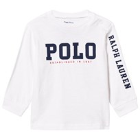 Ralph Lauren White Long Sleeve Polo Graphic Tee 001