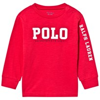 Ralph Lauren Red Long Sleeve Polo Graphic Tee 002