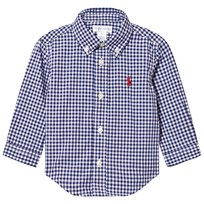 Ralph Lauren Blue Gingham Long Sleeve Shirt 002