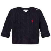 Ralph Lauren Navy Cable Knit Jumper 001