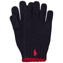 Ralph Lauren Navy and Red Logo Gloves 001