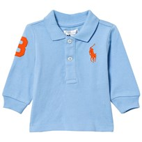 Ralph Lauren Chatham Blue Long Sleeve Polo with Big PP 002