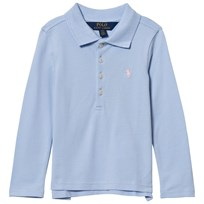 Ralph Lauren Blue Long Sleeve Polo With Small PP 007