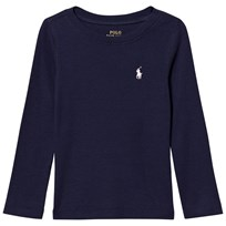 Ralph Lauren Navy Long Sleeve Tee with Small PP 011