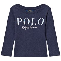 Ralph Lauren Blue Floral Polo Long Sleeve Tee 003