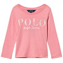 Ralph Lauren Pink Floral Polo Long Sleeve Tee 002