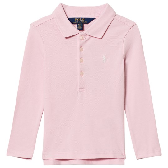 Ralph Lauren Stretch Mesh Long Sleeve Polo Pink 008