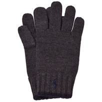 Ralph Lauren Grey/Black Merino Gloves 002