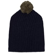 The Animals Observatory Pony Knit Beanie Navy Blue Navy Blue