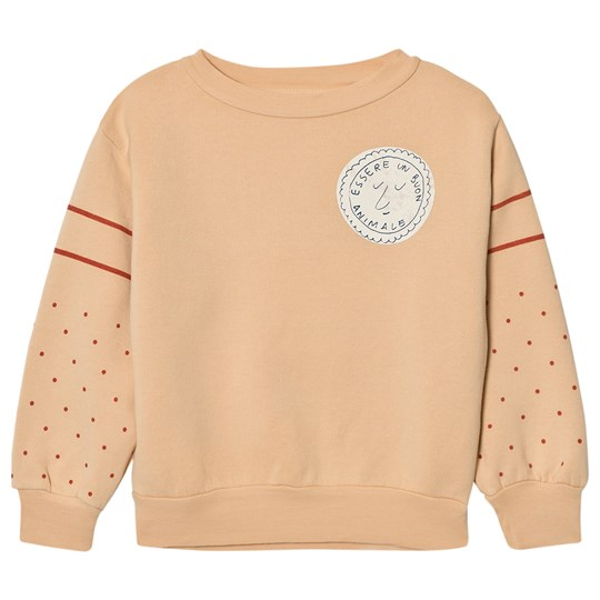 The Animals Observatory Bear Sweatshirt Cream Stamp Cream Stamp