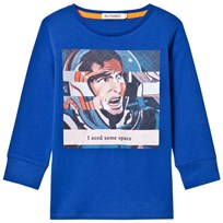 Billybandit Blue Cartoon Print Need Some Space Tee 829