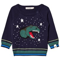 Billybandit Navy Dinosaur Knitted Jumper 85T
