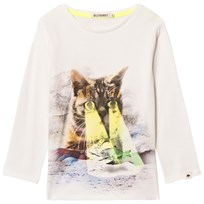 Billybandit White Cat and Fish Print Tee 105
