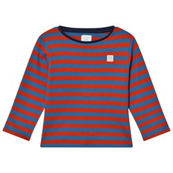 Carrément Beau Red and Navy Striped Long-Sleeve T-shirt