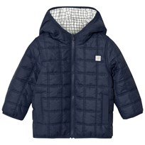 Carrément Beau Navy Square-Quilted Puffer Jacket 85T