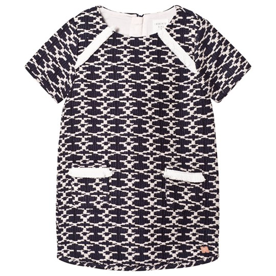 Carrément Beau Navy and White Woven Dress 84N