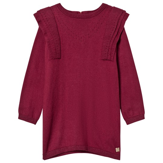Carrément Beau Burgundy Knit Sweater Dress 95T