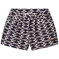 Carrément Beau Navy and White Woven Shorts 84N