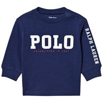Ralph Lauren Navy Long Sleeve Polo Graphic Tee 005