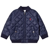 Ralph Lauren Navy Quilted Baseball Jacket 001