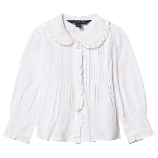 Ralph Lauren White Pintuck Front Shirt 001