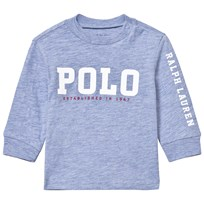 Ralph Lauren Pale Blue Long Sleeve Polo Graphic Tee 003