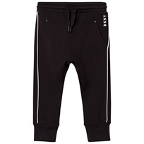 DKNY Black and White Branded Track Pants 09B