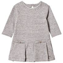 Chloé Grey Marl Sweat Dress with Branded Details A38