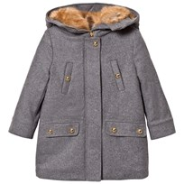 Chloé Grey Wool Coat A38