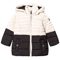 Karl Lagerfeld Kids Black and Cream Puffer Coat M92