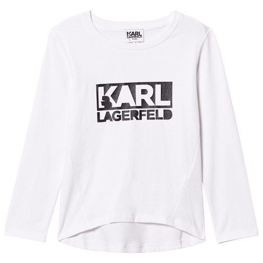 Karl Lagerfeld Kids White Karl Branded Tee 10B