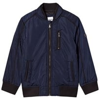 BOSS Coated Bomber Jacka Marinblå 849