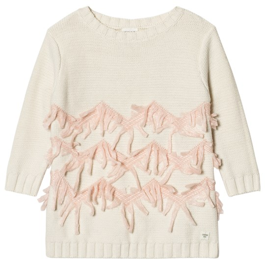 Carrément Beau Cream Knit Sweater Dress N74