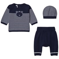 Emile et Rose Lloyd Two-Piece Knit Set in Navy Blue Navy