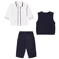 Emile et Rose Layton Navy Three-Piece Outfit Navy
