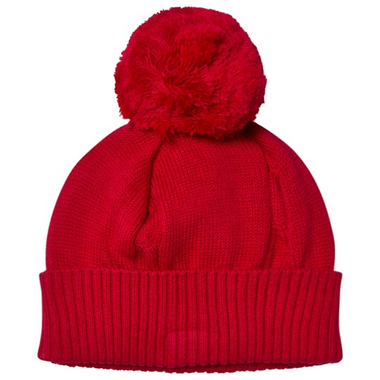 Emile et Rose Red Bobble Hat Red