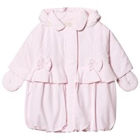 Emile et Rose Pale Pink Padded Coat with Bows Pale Pink