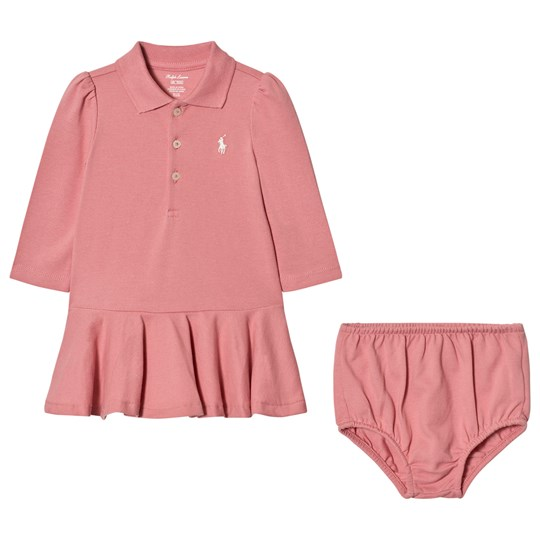 Ralph Lauren Pink Polo Peplum Dress 003