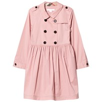 Burberry Pale Rose Stretch Cotton Trench Dress Pale Rose