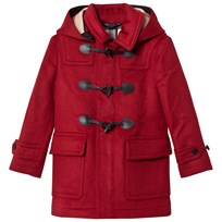 Burberry Hooded Wool Duffle Coat Parade Red Parade Red