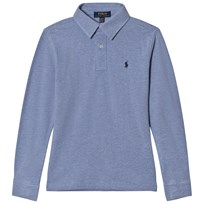 Ralph Lauren Blue Featherweight Mesh Polo with Small PP 001