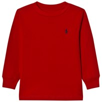 Ralph Lauren Red Long Sleeve Tee with Small PP 014