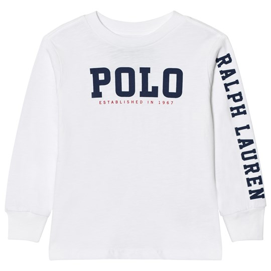 Ralph Lauren Slub Cotton Jersey Graphic Tee White 001