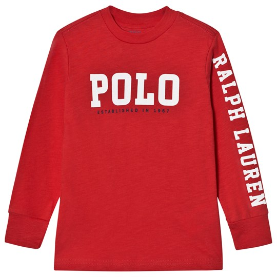 Ralph Lauren Slub Cotton Jersey Graphic Tee Red 002