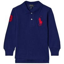 Ralph Lauren Blue Long Sleeve Polo with Big PP 005